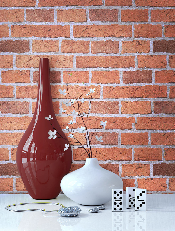 steintapete steine mauer tapeten dunkel wand ziegel klinker 3d optik neu ebay. Black Bedroom Furniture Sets. Home Design Ideas