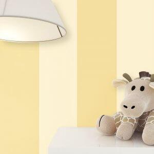 Kindertapete Streifen Gelb Giraffe