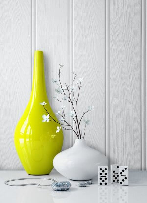 Tapete Holz Holzwand Grau Vase