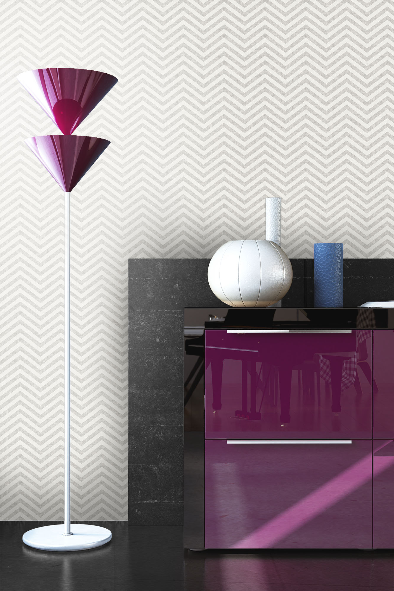 NEWROOM Vliestapete Grau   Grafik Vlies Creme Retro 3D Optik Vlies Tapete