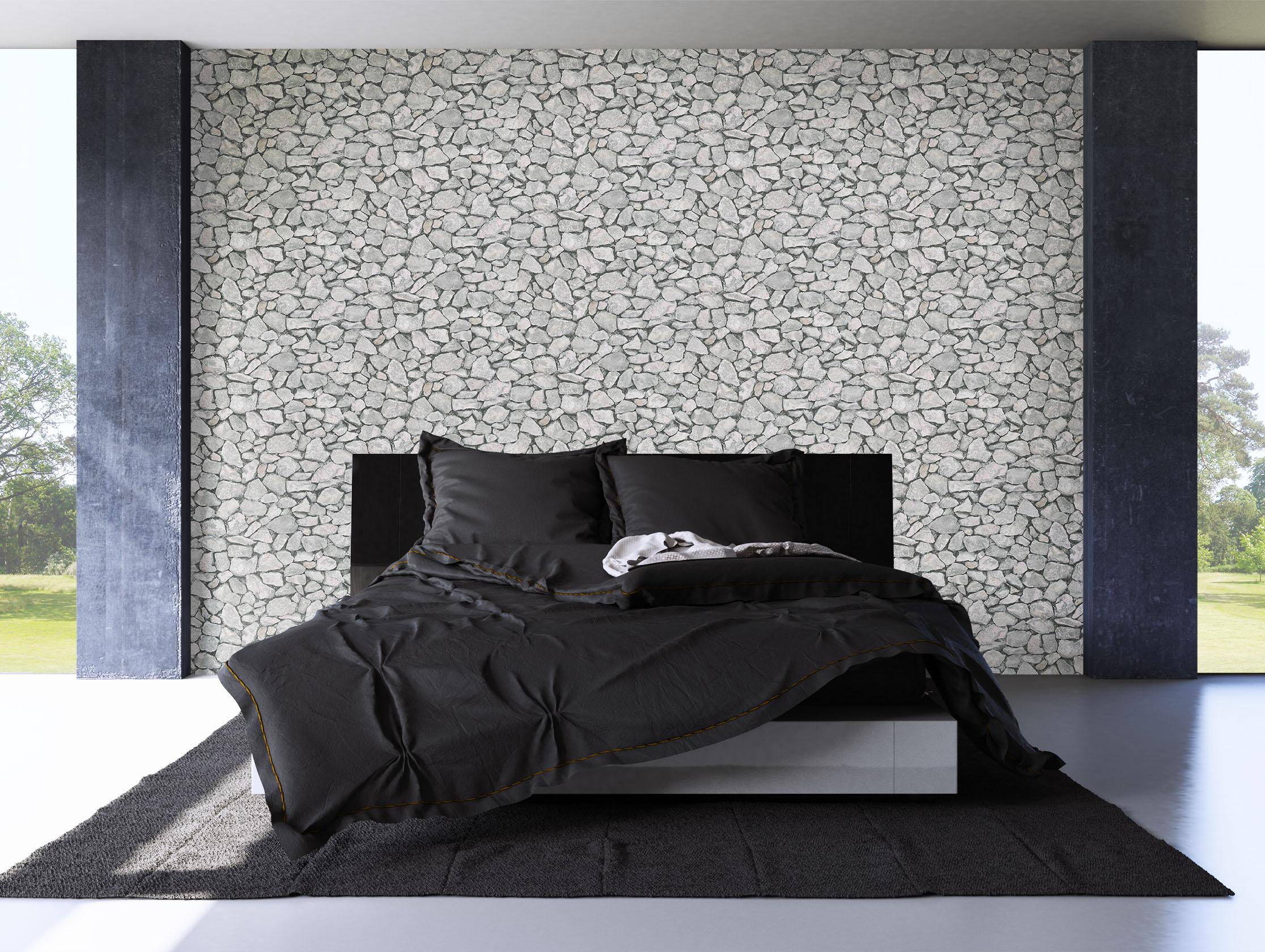 Beste Steintapete Wohnzimmer Grau #5029. Steintapete Wei Design