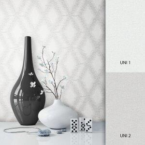 Mustertapete Weiß Grau