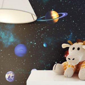 Kindertapete Kosmosphäre Weltraum Planeten Deko