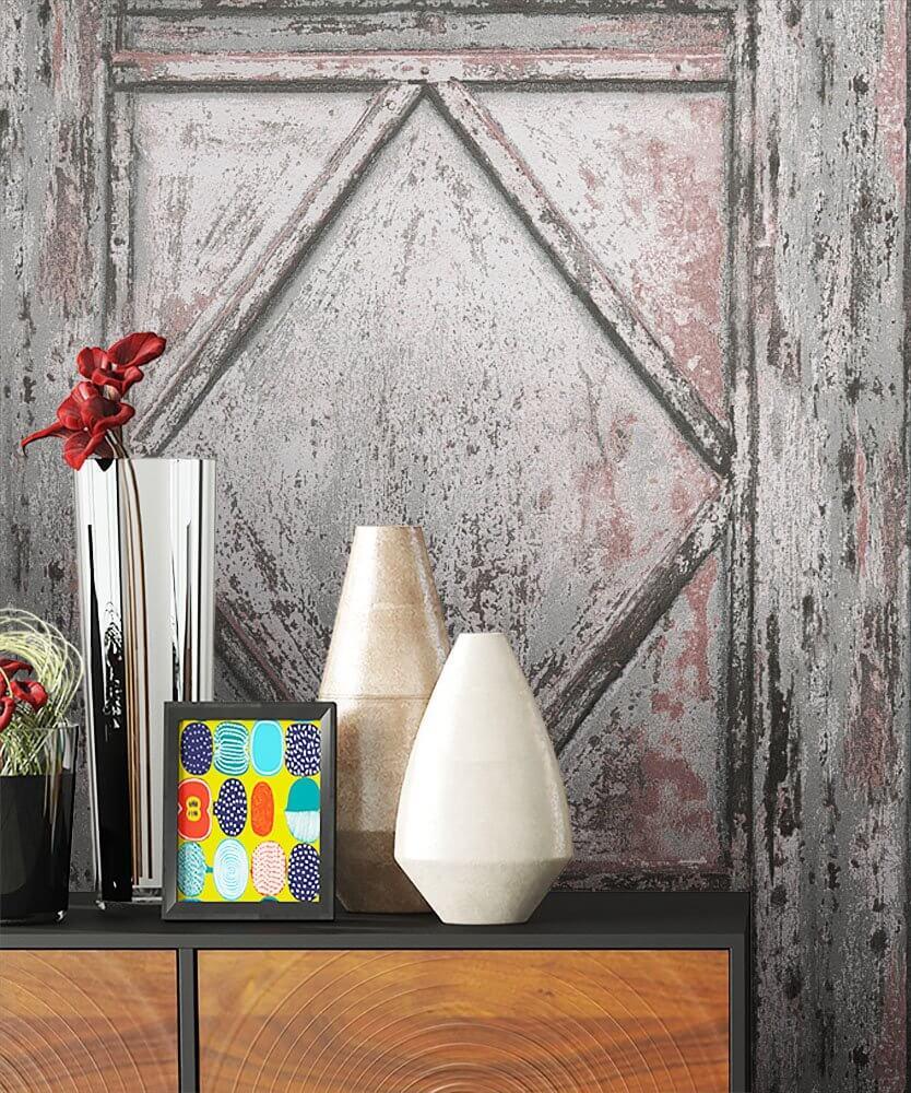 Nice ... Tapete Holz Holzwand Beige Deko Grau ... Home Design Ideas