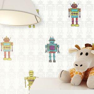Tapete Roboter Lampe Kuscheltier
