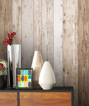 Tapete Vlies Braun Holz Optik Dekoration