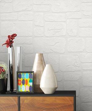 Tapete Weiß Stein Struktur Dekoration