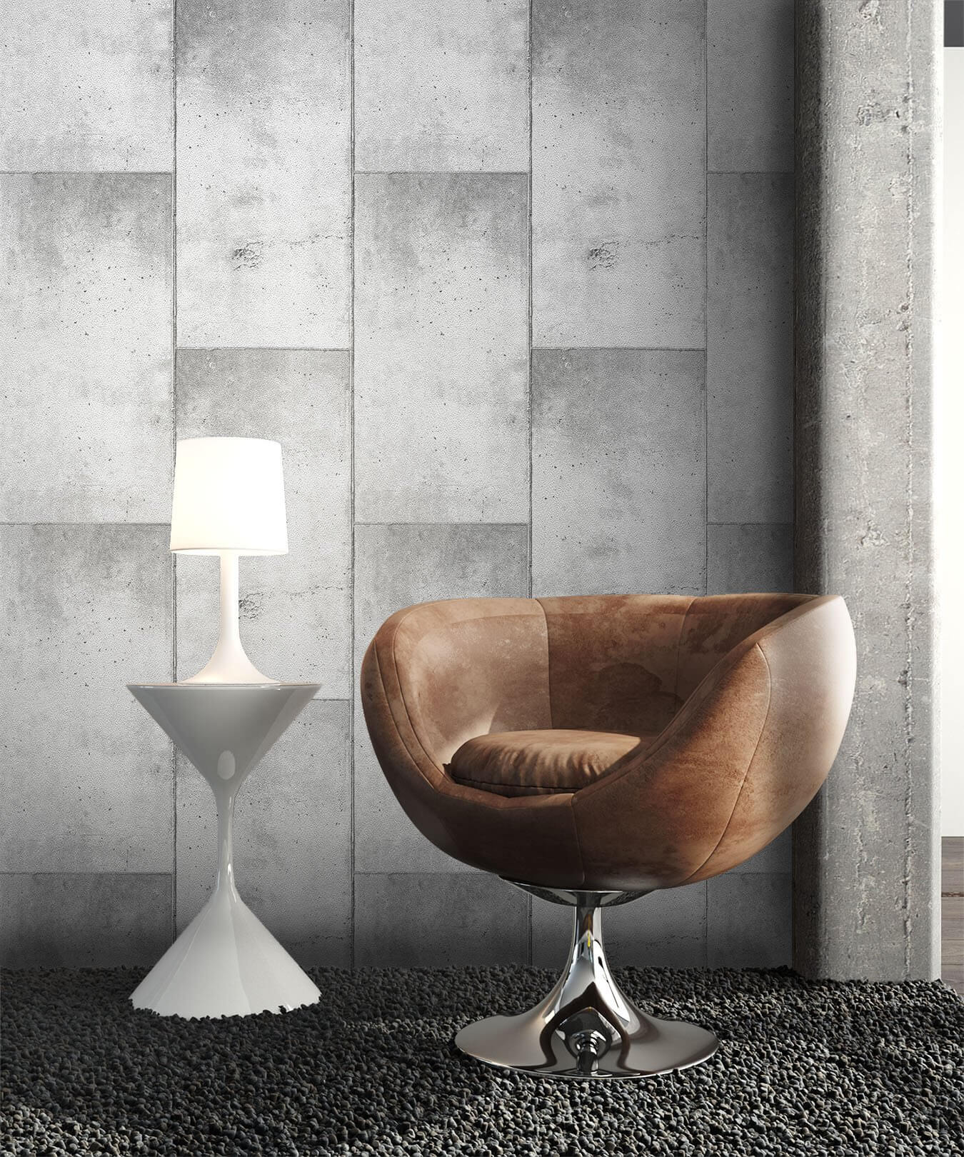 papiertapete grau kacheln newroom. Black Bedroom Furniture Sets. Home Design Ideas