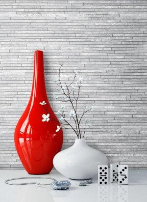 Tapete Stein Grau Vase