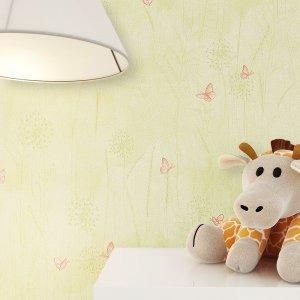 Tapete Kinder Kinderzimmer Grün Braun Beige Deko