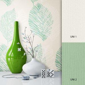 Blumentapete Weiß Grün