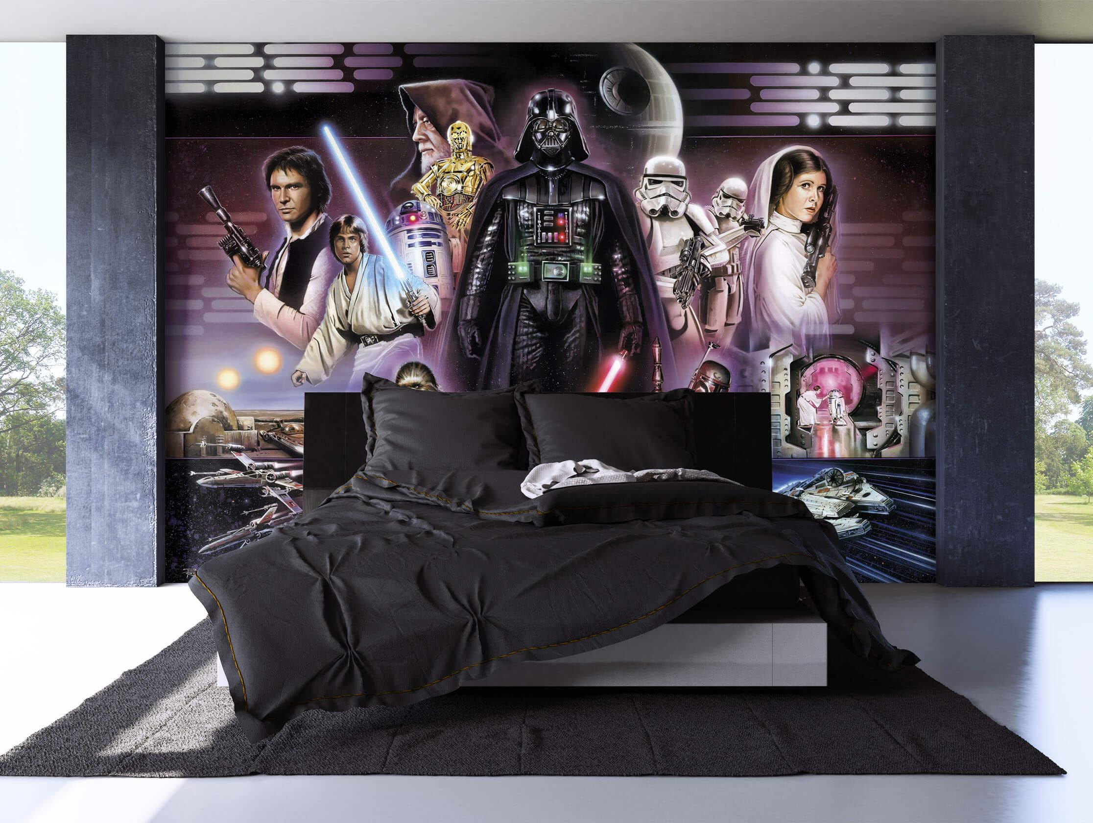 fototapete star wars disney darth vader 368x254 cm xxl wandbild poster kinder ebay. Black Bedroom Furniture Sets. Home Design Ideas