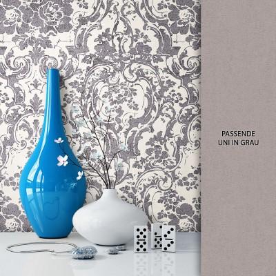 Tapete Vlies Blumen Barock Muster Dekoration