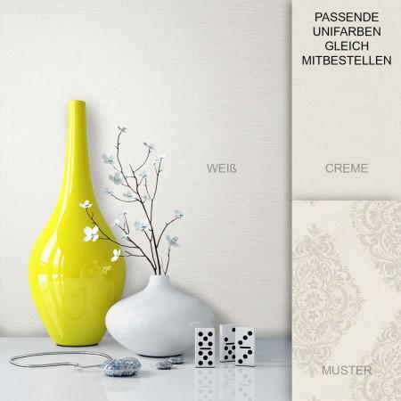 Tapete Vase Weiß Barock Vlies