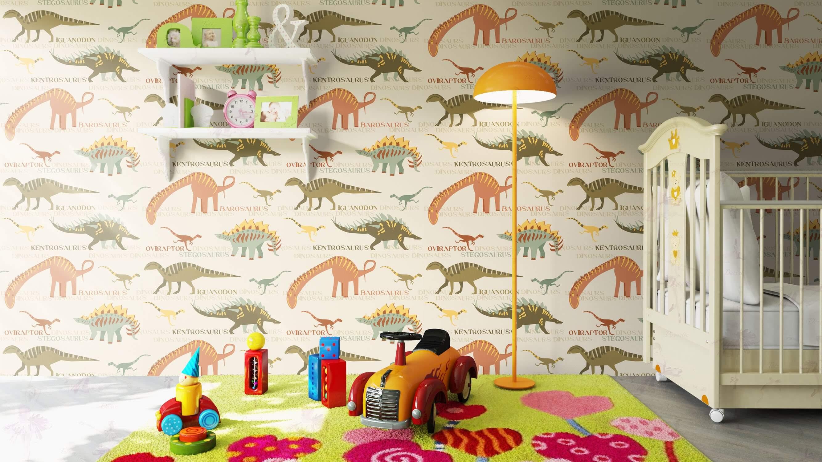 dino kinderzimmer tapete 1 - Tapete Dinosaurier