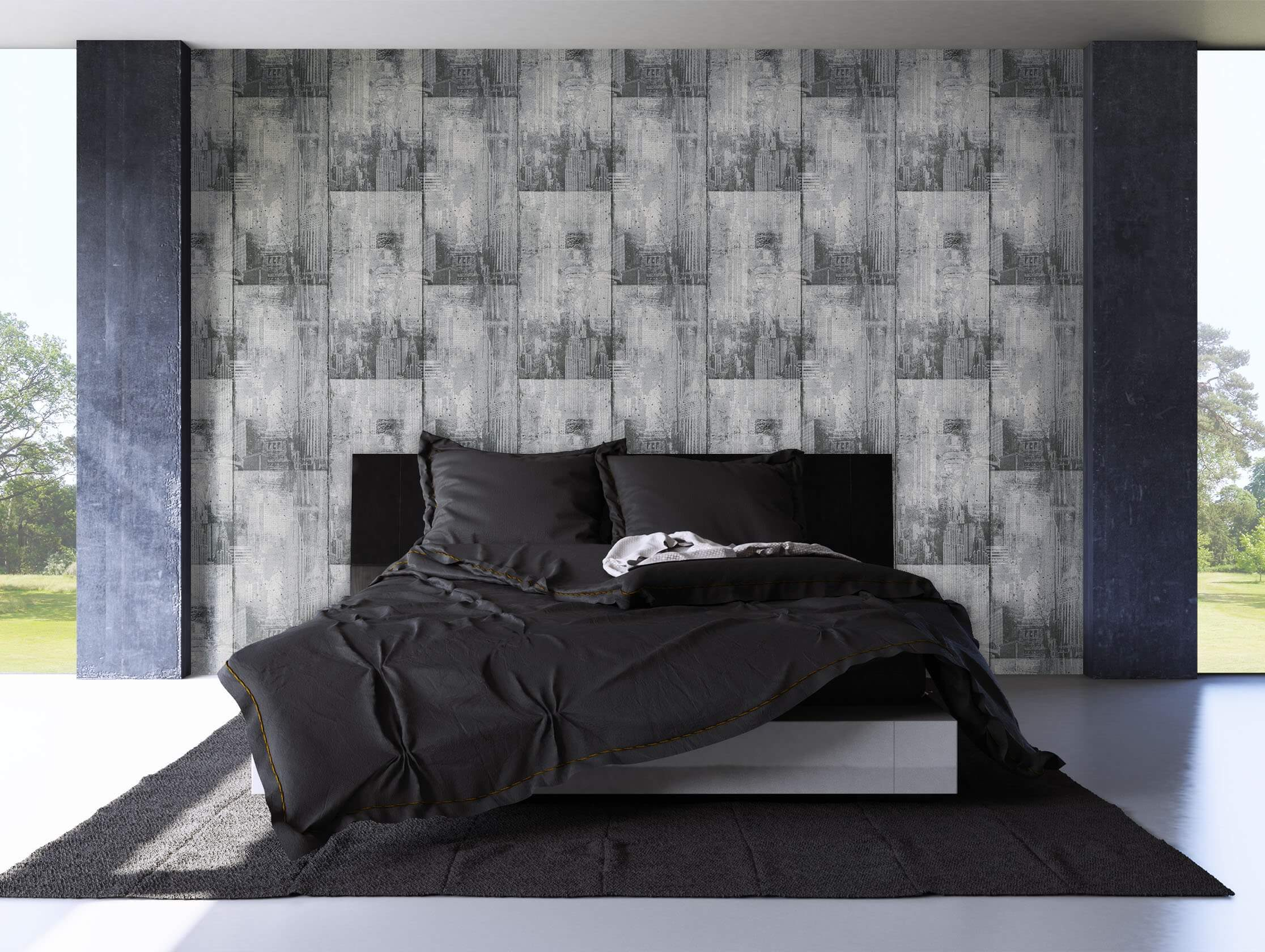 papiertapete grau specials newroom. Black Bedroom Furniture Sets. Home Design Ideas