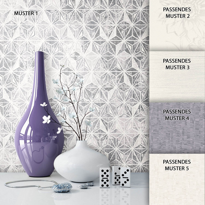 tapete graphic dekoration grau beige creme - Tapete Grau Beige