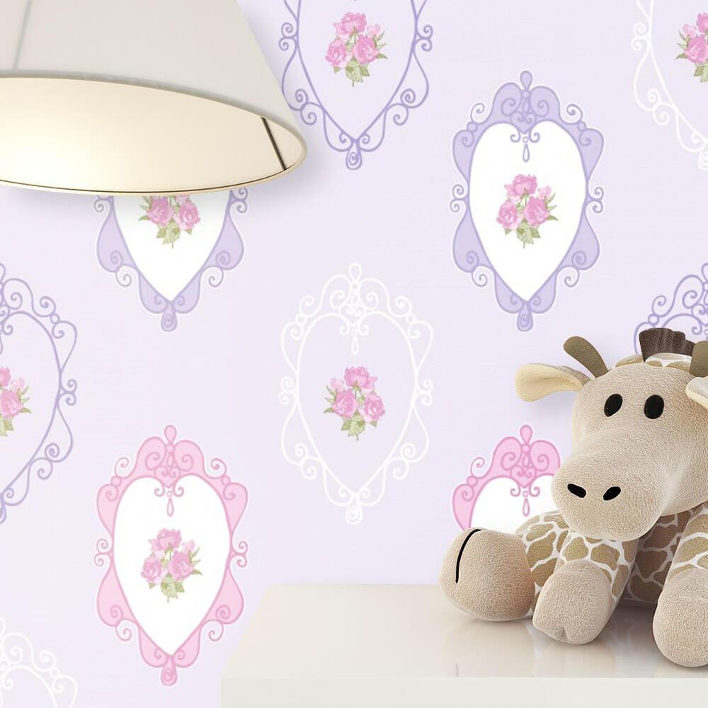 vliestapete lila kinder blumen kinderzimmer newroom. Black Bedroom Furniture Sets. Home Design Ideas