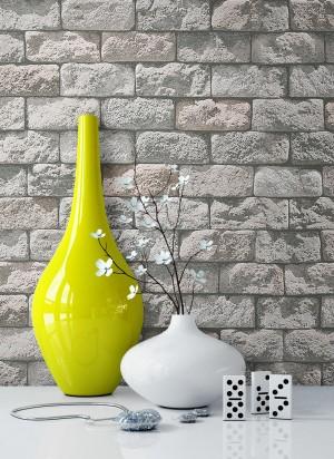 Tapete Steintapete Grau Vase