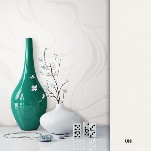 Blumentapete weiß