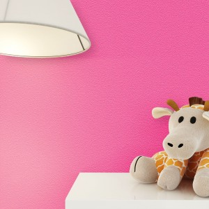 Tapete Uni Pink Stofftier