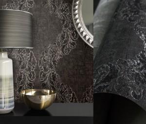 Kori Anthrazit - Ornament Muster