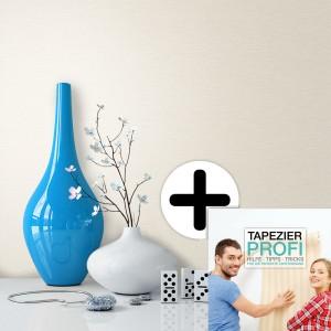 Tapete Vlies Grafik Creme Vase