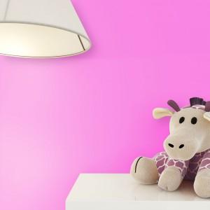 Kindertapete Uni Pink