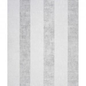 Kasmir Weiß - Streifen Weiß Silber