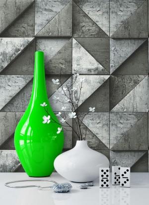 Tapete Stein Beton Grafik Vlies Vase