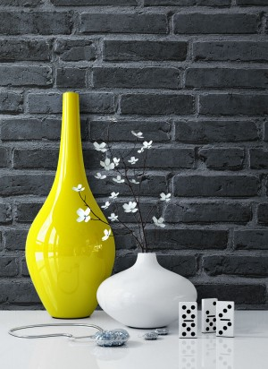 Steintapete Vlies Stein Rot Vase