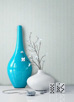Tapete Blau Grafik Muster Deko