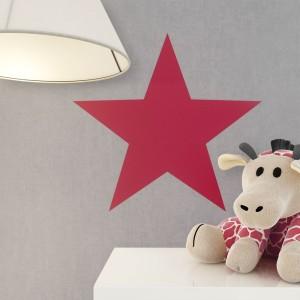 Kindertapete Grau Rot Sterne Deko