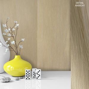 Tapete Vase Deko Vlies Vinyl Weiß Creme Beige