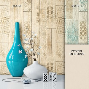 Tapete Vlies Holz Grafik Optik Dekoration