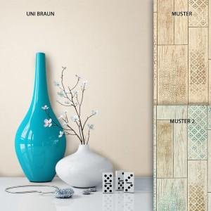 Tapete Vlies Uni Braun Dekoration