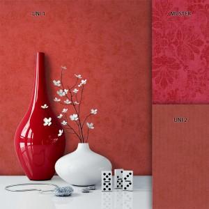 Tapete Vlies Rot Klassik Barock Muster Deko