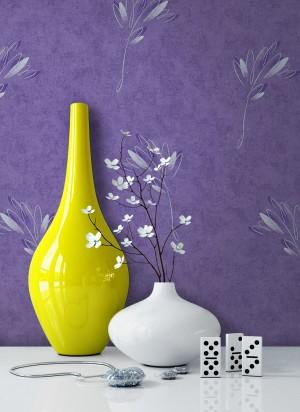 Tapete Vlies Violett Blume Dekoration