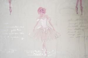 Kindertapete Ballerina Mädchen Deko