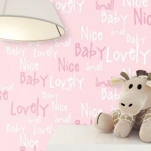 Kindertapete Schrift Baby Kinder Kinderzimmer