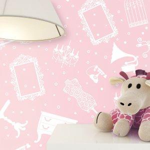 Kindertapete Rosa Kinderzimmer