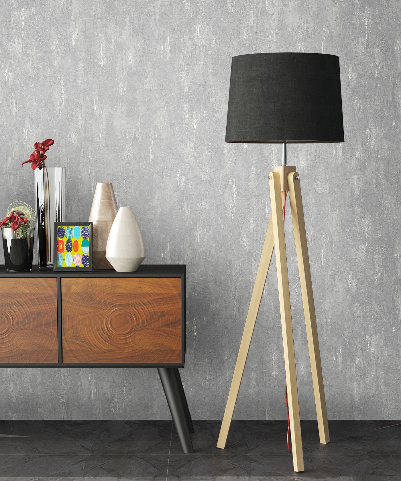 tapete vlies stein beton grau steinwand putz metall optik vliestapete neu ebay. Black Bedroom Furniture Sets. Home Design Ideas