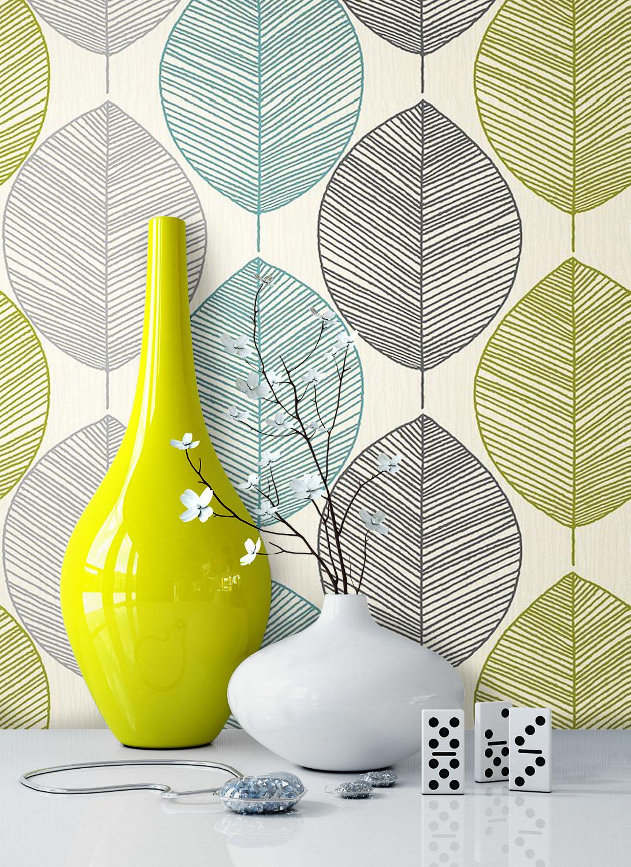 newroom blumentapete grau gr n t rkis grafik landhaus. Black Bedroom Furniture Sets. Home Design Ideas