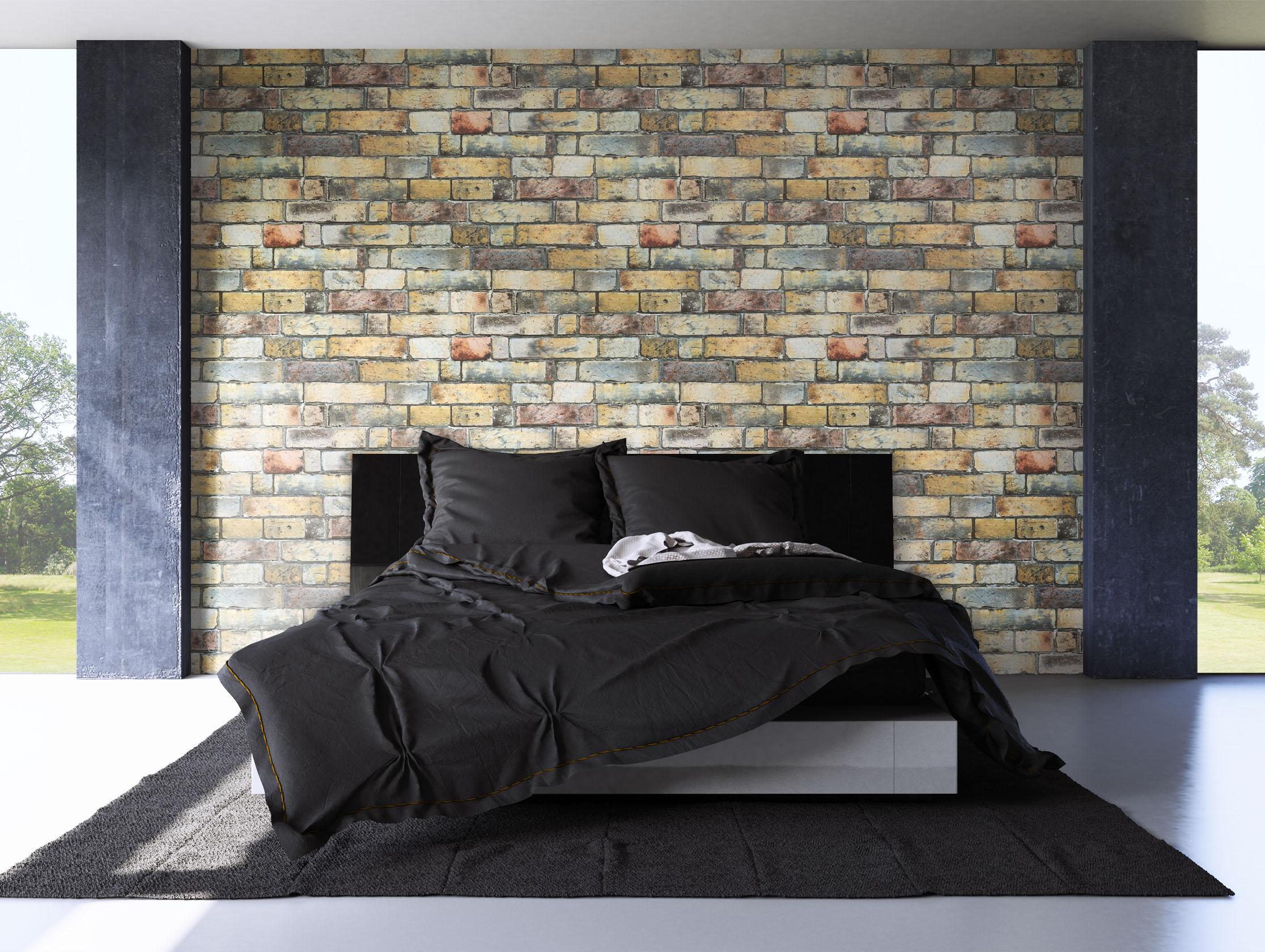 newroom steintapete vliestapete bunt mauer stein rustikal grau loft 3d ebay. Black Bedroom Furniture Sets. Home Design Ideas