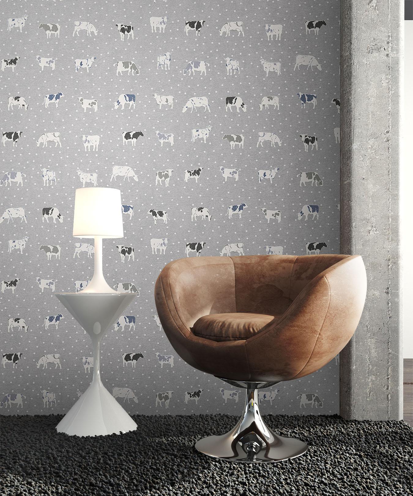 newroom vliestapete grau k che vlies landhaus 3d optik. Black Bedroom Furniture Sets. Home Design Ideas