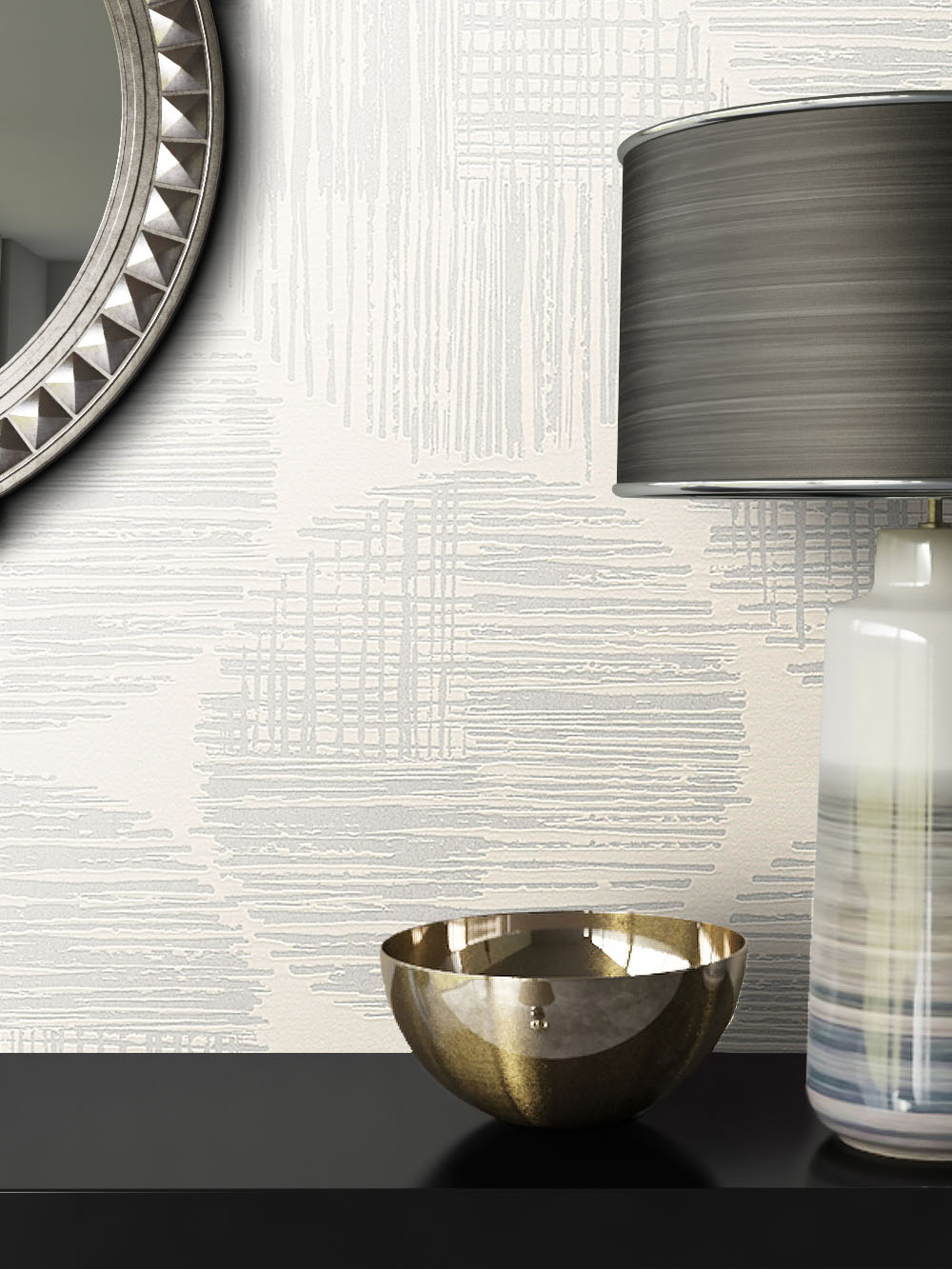 newroom tapete hellgrau wei grafik jung modern vlies. Black Bedroom Furniture Sets. Home Design Ideas