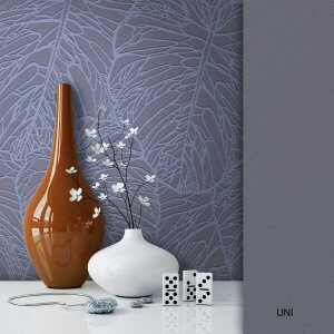 Blumentapete grau
