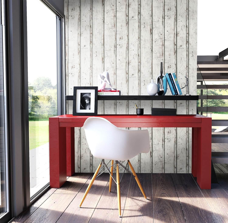Innenarchitektur Schreibtisch Oslo Foto Von Tapete Vlies Holz Bretter