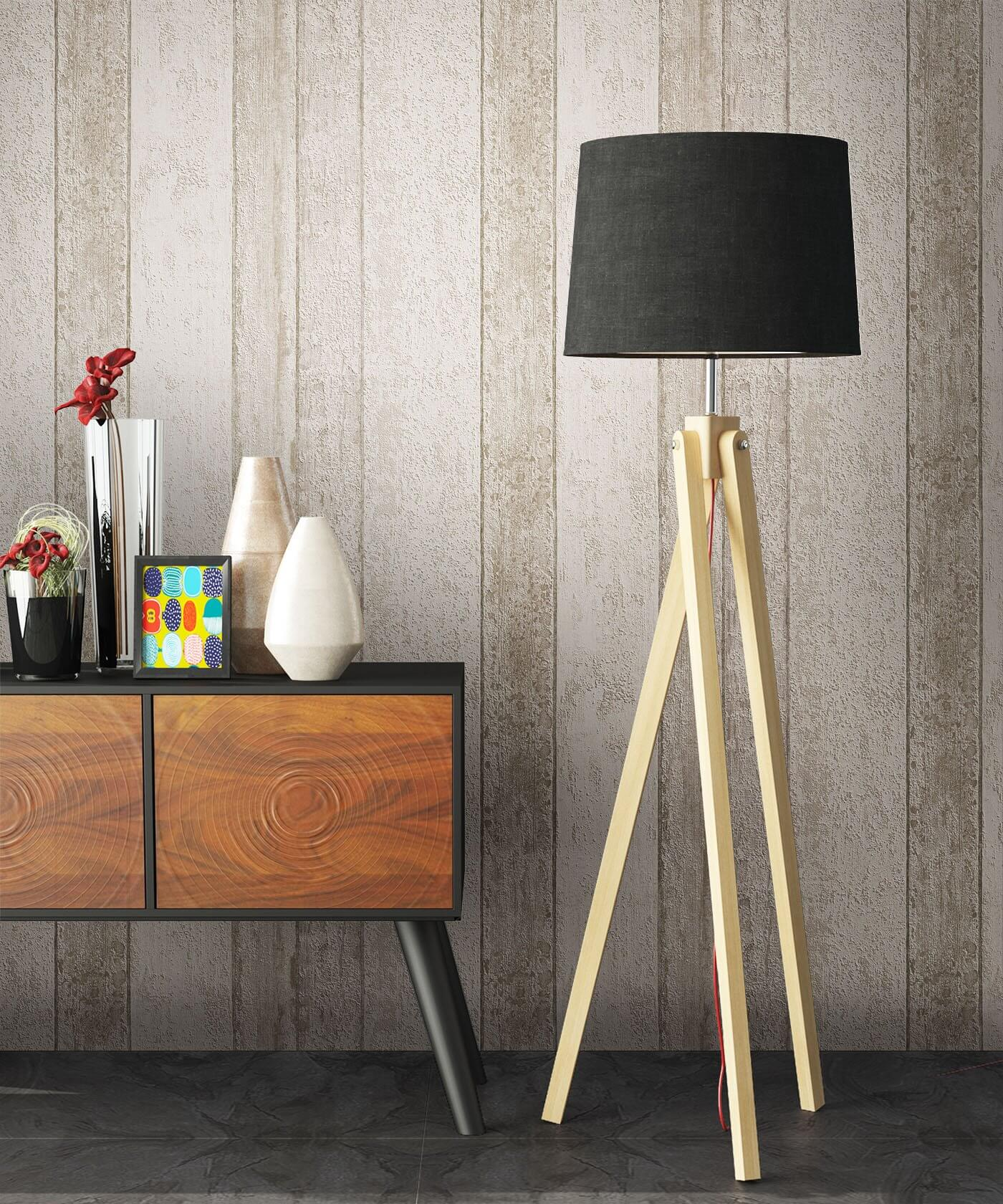 Noigord creme tapetenfarbe for Holz tapete weiay