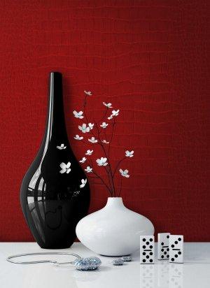 Tapete Leder Rot Vase